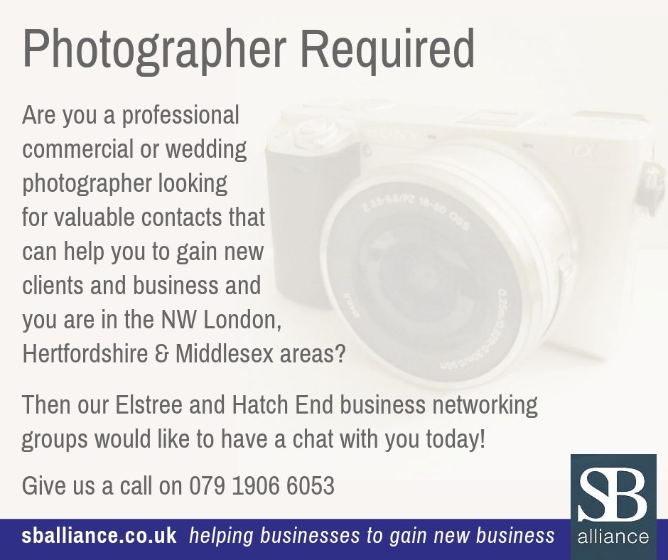 SB alliance_photographer_wanted_NW_London_Hertfordshire_Middlesex_areas