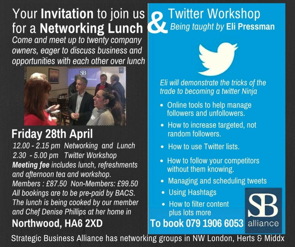SB alliance_business_networking_lunch_and_twitter_workshop_Northwood_28_April_2017