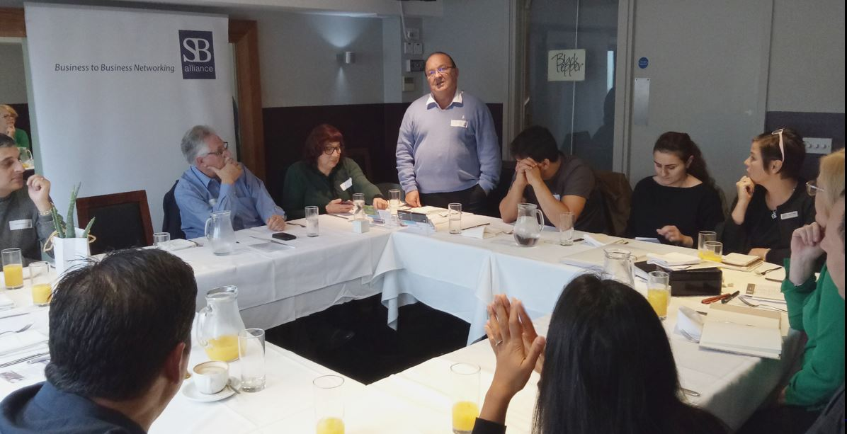 SB alliance_guest_speaker_Ken Walton _at_Hatch End_business_lunch_group_October_2017