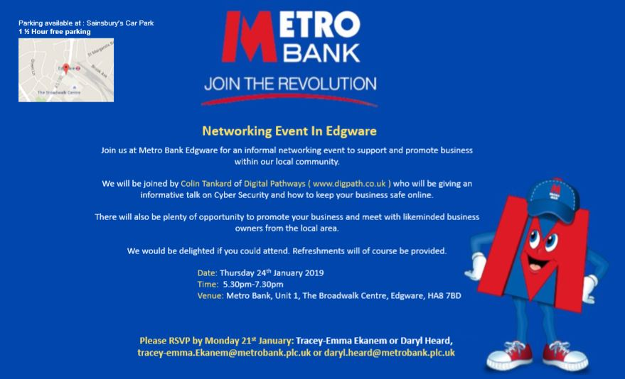 Invite_Metro Bank_Edgware_business_networking_event_Thursday_24_January