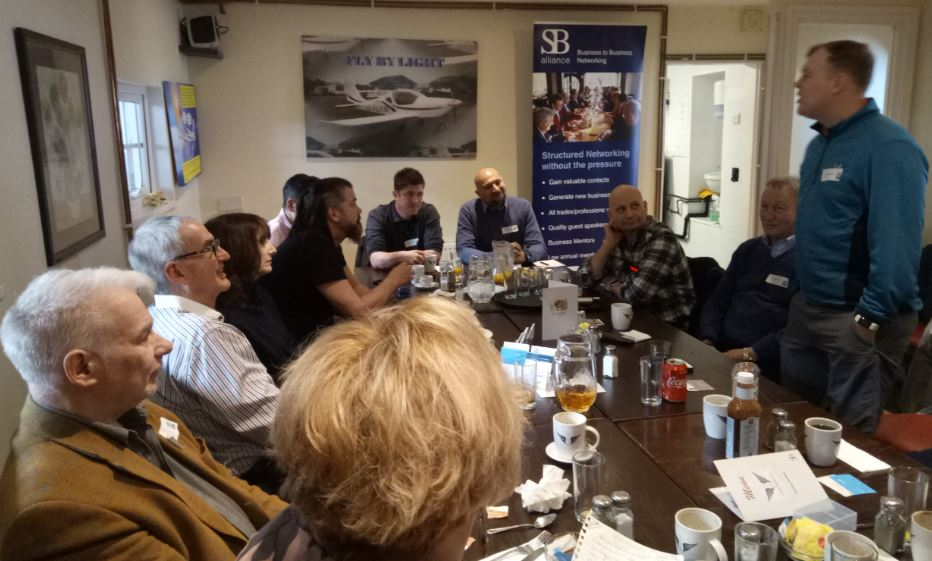 at a SB alliance_business_networking_breakfast_group_at_Elstree_Aerodrome