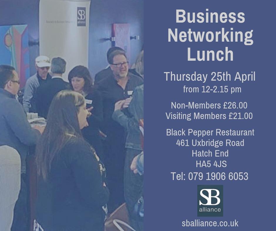 sb_alliance_business_networking_lunch_thursday_25_april_2019_hatchend_harrow