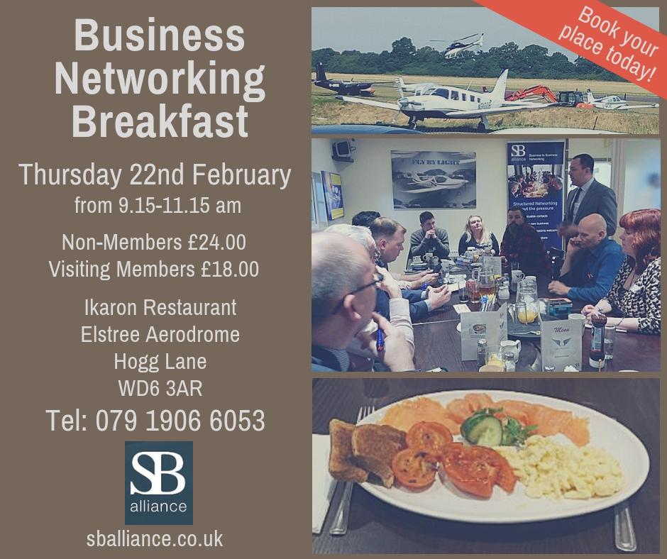 SB alliance_business_networking_breakfast_thursday_22_february_2019_elstree_aerodrome
